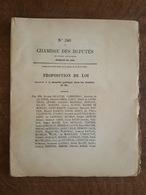 1886 - Proposition De Loi D E52 Pages - Relative à La Sécurité Publique Dans Les Chemins De Fer - Décrets & Lois