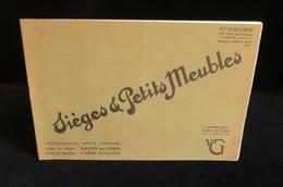 ( Arts Décoratifs Ebénisterie ) Catalogue SIEGES Et Petits Meubles Vve GUILLEMOT PARIS Usine MAGNY-EN-VEXIN 1933 - France