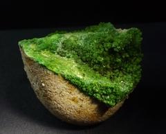 Pyromorphite On Boulder Rock Matrix ( 4.5 X 4 X 3 Cm)- Gute Hoffnung Mine - Mechernich - Eifel - Germany - Minéraux