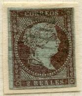 Edifil 42 1855 2 Reales Filigrana De Lazos En Usado. - Usados