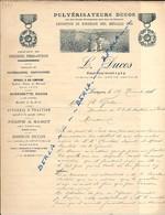Pulvérisateur DUCOS Expo Bordeaux 1895 Médaille D'or L. DUCOS Langon 1896 - France