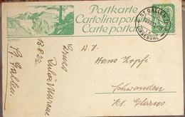"""SCHWEIZ SUISSE 1923: Bild-Postkarte """"GLETSCH"""" Mit Stempel ST.GALLEN 13.VIII.23 LINSEBÜHL Nach Schwanden (Glarus) - Protection De L'environnement & Climat"""
