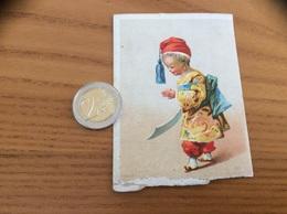 """Chromo, Ancien Calendrier 1876 """"Rubans Mercerie Ch. CHAUFFIER PARIS /  TURC"""" - Calendriers"""