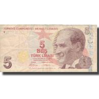 Billet, Turquie, 5 Lira, 1970, 1970, KM:222, TTB - Türkei