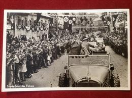 Propagandakarte WW2 Deutsches Reich Triumpffahrt Des Führers Adolf Hitler Befreiung Des Sudetenlandes 1938 Lobositz - Weltkrieg 1939-45