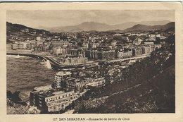 San Sebastian. Ensanche De Barrio De Gros.  Sent To Switzerland Spain.  S-3921 - Spain