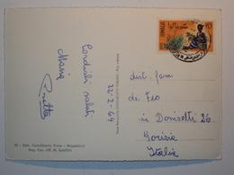 STORIA POSTALE CARTOLINA DA MOGADISCIO SOMALIA COLOVIE AFIS AMMINISTRAZIONE PROVVISORIA - Somalia