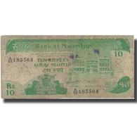 Billet, Mauritius, 10 Rupees, 1985, 1985, KM:35b, B+ - Maurice
