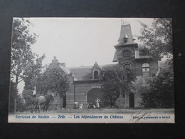 CP BELGIQUE (M1818) ENVIRONS DE HAELEN HALEN - ZELK (2 VUES) Les Dépendances Du Chateau Edit. Cleeremans & Saels - Halen