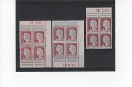 DECARIS 1263 ENSEMBLE BLOC CARNET DE 20 DATES OU NON - 1960 Marianne Of Decaris