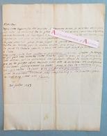 Lettre 1783 Aix à Valensolles : DUEL De GALLIFFET / MIRABEAU - Cartel Vaucluse - Perrin - Jaubert - L.A.S - Manuscritos