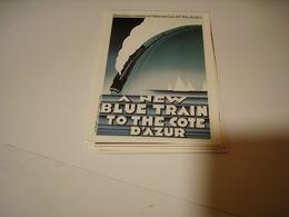 PUBLICITE THE NEW BLUE TRAIN TO THE COTE D AZUR - Frankreich