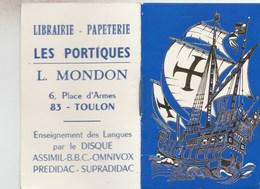 CALENDRIER 1973 LIBRAIRIE LES PORTIQUES L.MONDON TOULON - Tamaño Pequeño : 1971-80