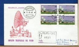 ITALIA - FDC  1968  - FUCINO    -  QUARTINA  - - F.D.C.