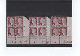 DECARIS 1263 ENSEMBLE 3 COINS DATES DIFF - 1960 Marianne Of Decaris
