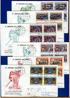 ITALIA - FDC  1968  - CINQUANTENARIO DELLA VITTORIA  -  QUARTINA  -  Raccomandate Con Timbro Arrivo - 1946-.. République