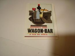 PUBLICITE WAGON BAR - Francia