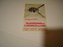PUBLICITE TELEFERIQUE DE L AIGUILLE DU MIDI - Francia