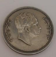 1953 - Iraq - 1372 - 100 FILS, Roi Faisal II, Argent, Silver, KM 115 - Iraq