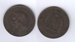 France  10 Centimes 1854 W 10c - France