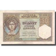 Billet, Serbie, 50 Dinara, 1941, 1941-08-01, KM:26, SUP - Serbie