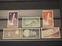 CECOSLOVACCHIA - 1961 SPAZIO 6 Valori - NUOVI(+) - Czechoslovakia