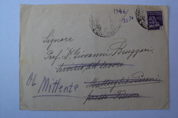 STORIA POSTALE LETTERA RSI REPUBBLICA SOCIALE R.S.I. DIRETTA A COATTO ORGANIZZAZIONE TODT IN ISTRIA CROAZIA MATTUGLIE 44 - 1900-44 Vittorio Emanuele III