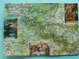 V10-07-ardeche-carte Geo-departement-gorges De L'ardeche-pont D'arc-aven Marzal-d'oronac- - Non Classificati