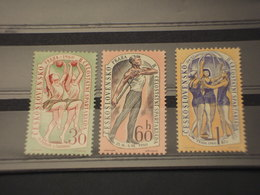 CECOSLOVACCHIA - 1960 SPARTACHIADE  3  Valori - NUOVI(+) - Czechoslovakia