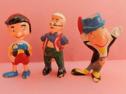 3 Figurines PINOCCHIO  ANCIENNE WALT DISNEY - Disney