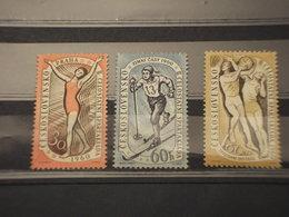 CECOSLOVACCHIA - 1960 SPORT  3  Valori - NUOVI(+) - Czechoslovakia