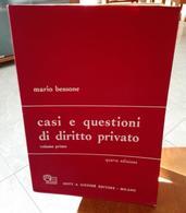 CASI E QUESTIONI DI DIRITTO PRIVATO VOLUME PRIMO MARIO BESSONE EDIZIONI GIUFFRE' STAMPA 1981 DIMENSIONI CM 24,5X17 PAGIN - Diritto Ed Economia