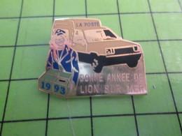 1118B Pin's Pins / Rare Et De Belle Qualité / THEME POSTES / LA POSTE LION SUR MER BONNE ANNEE 1993 - Postes