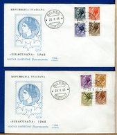 ITALIA - FDC  1968  -  SIRACUSANA  Nuova Emissione Fluorescente - 6. 1946-.. Repubblica