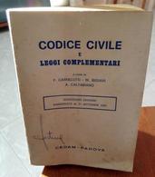 CODICE CIVILE E LEGGI COMPLEMENTARI F. CARNELUTTI W. BIGIAVI A. CALTABIANO EDIZIONI CEDAM STAMPA 1981 DIMENSIONI CM 17X1 - Diritto Ed Economia