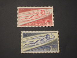 CECOSLOVACCHIA - 1961 COSMONAUTA 2 VALORI - NUOVI(++) - Czechoslovakia