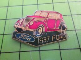 1118B Pin's Pins / Rare Et De Belle Qualité / THEME AUTOMOBILE : FORD 1937 ROUGE - Ford