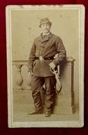 Cdv CARTE DE VISITE PHOTOGRAPHIE MILITAIRE - PHOTOGRAPHE A. FATALOT LYON - Guerre, Militaire
