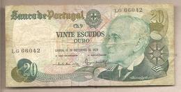 Portogallo - Banconota Circolata Da 20 Escudos P-176a.3 - 1978 - Portugal