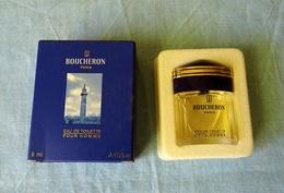 """Miniature """"BOUCHERON Pour HOMME """"de BOUCHERON Eau De Toilette 5 Ml Dans Sa Boite (M076) - Modern Miniatures (from 1961)"""