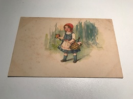 Elly Frank Young Girl Little Red Riding Hood Lookalike Signed Graphic Art WSSB 9160 Post Card Postkarte POSTCARD - Frank, Elly