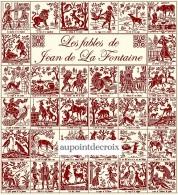 Diagramme Point De Croix -  32 Fables De Jean De La Fontaine (19) - Point De Croix