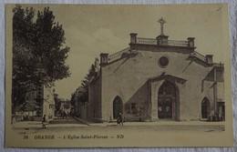 CPA - ORANGE (84) - L'Eglise Saint-Florent - Animée - Orange