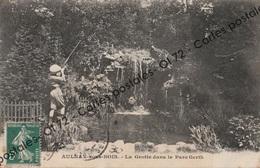 CPA [93] Seine Saint Denis > Aulnay Sous Bois - La Grotte Dans Le Parc Gerth - Enfant ?  Qui Tire Au Fusil - Aulnay Sous Bois