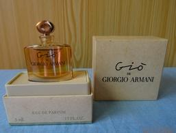"""Miniature """"GIO """"de GIORGIO ARMANI Eau De Parfum 5 Ml Dans Son Coffret - Miniatures Modernes (à Partir De 1961)"""