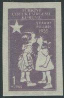 TÜRKEI / ZZC MiNr. 187 Ungezähnt / Kinderhilfe / 23.04.1955 / Postfrisch / MNH / ** - 1921-... Republik