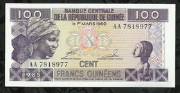 REPUBLIQUE DE GUINEE . 100 FRANCS GUINEENS . 1985 . - Guinea