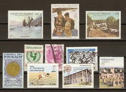 Paraguay - Petit Lot De 10 Timbres - 4 MNH Et 6 Oblitérés - Vrac (max 999 Timbres)