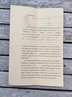 ACTE NOTARIE  De Bornage Année 1911  à VEILLY 21 Côte D'or Fait Par Le Géomètre Maubon à Arnay Le Duc - Décrets & Lois