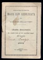 ACQUAVIVA DELLE FONTI - BARI - LIBRETTO PERSONALE CONFRATERNITA MARIA  SS.ADDOLORATA 1947 - Religion & Esotericism